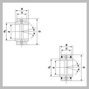 Spherical Plain Radial Bearings with Fitting Crack, Two Seals and Fitting Crack, Fitting Groove
